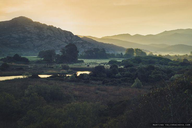 Morning - Beautiful Corsica scenery.