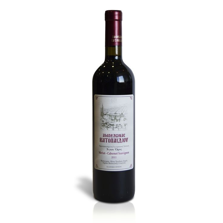 This wine stands out among the other monastic products, since the unique microclimate of the vineyards of Vatopedi on Mount Athos, where this wine is being produced; give to it an exceptional flavor. The wine has been left to age in the oak barrels of the Monastery before ending up in glass bottles. Product of Mount Athos, this red dry wine, derives from the organically grown grapes of the area.