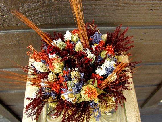 Country Dried Flower Arrangement with by SmokyMtnWoodcrafts, $20.00