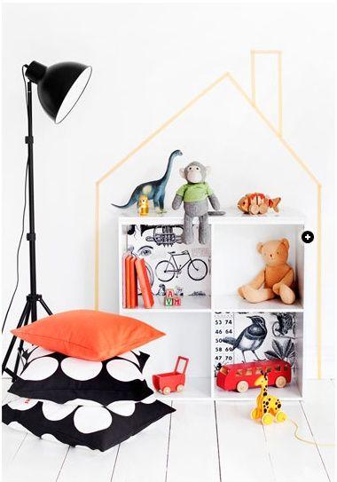washi tape dolls house