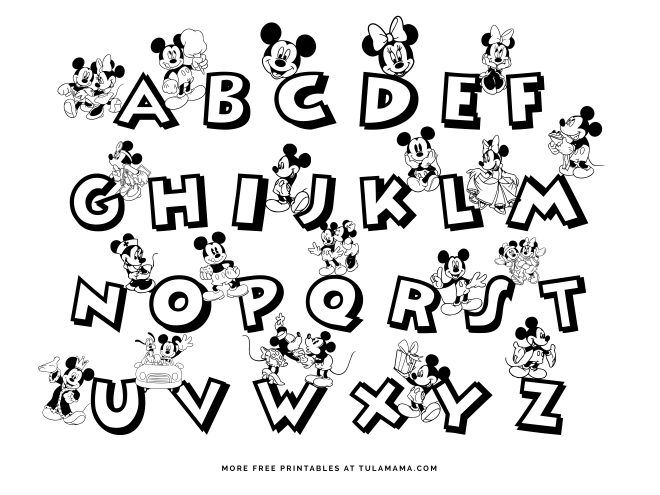 Free Printable Mickey Mouse Abc Coloring Pages Abc Coloring Pages Abc Coloring Mickey Mouse Abc