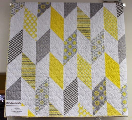 Fletcher Chevron Quilt Pattern Crafthubs Yellow And