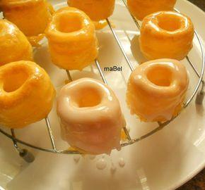 Rosquillas de Alcalá Yo no le he puesto la segunda cobertura, con la primera cobertura de yema ya tiene bastante dulce.