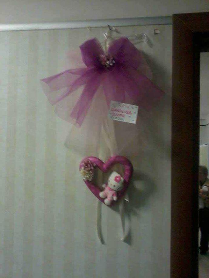 Fiocchi nascita | Fiocco nascita di Rosa Camardella | FOTO