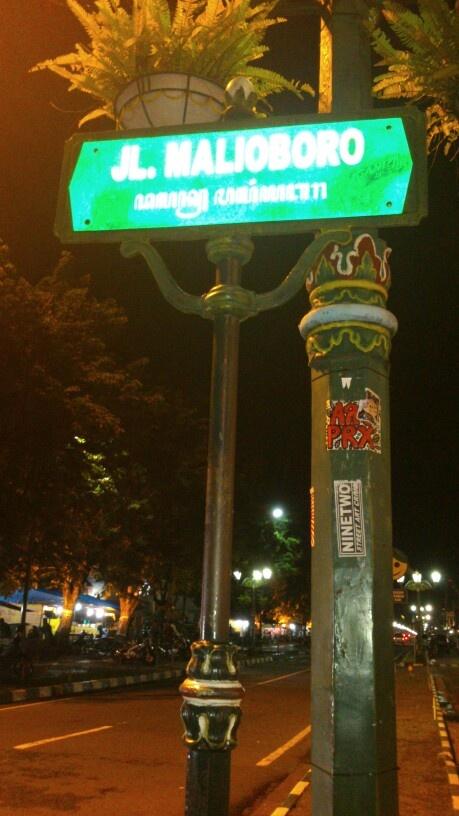 Malioboro Street..the famous street in special region of Yogyakarta, Indonesia.