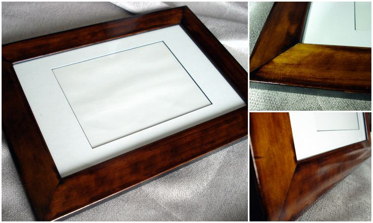 I know it's not furniture, but here is a photo frame that I have french polished for a present.