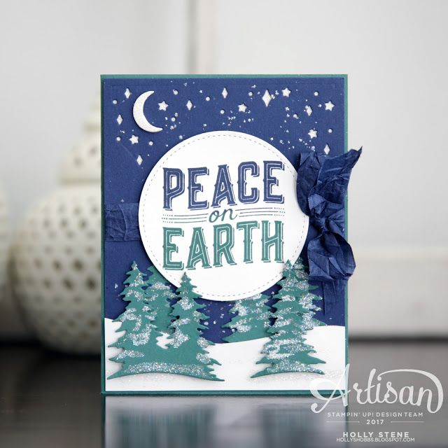 Create a scene (literally) using the new Card Front Builder Thinlits Dies from @Stampinup.  Coordinates with the beautiful Carols of Christmas set.  Available July 1st for demonstrators or Aug 1st for customers!  Join now and receive the stamp set free in your starter kit!