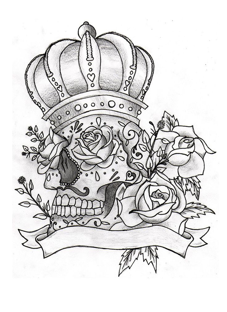 coloring pages of roses and skulls – imranbadami.co