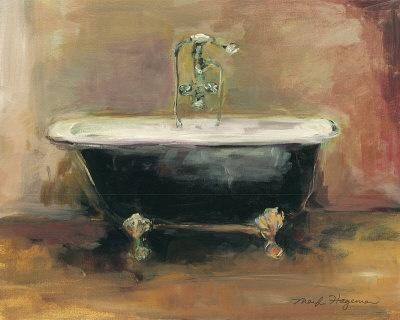An old farmhouse would not be complete without a claw foot bathtub....!