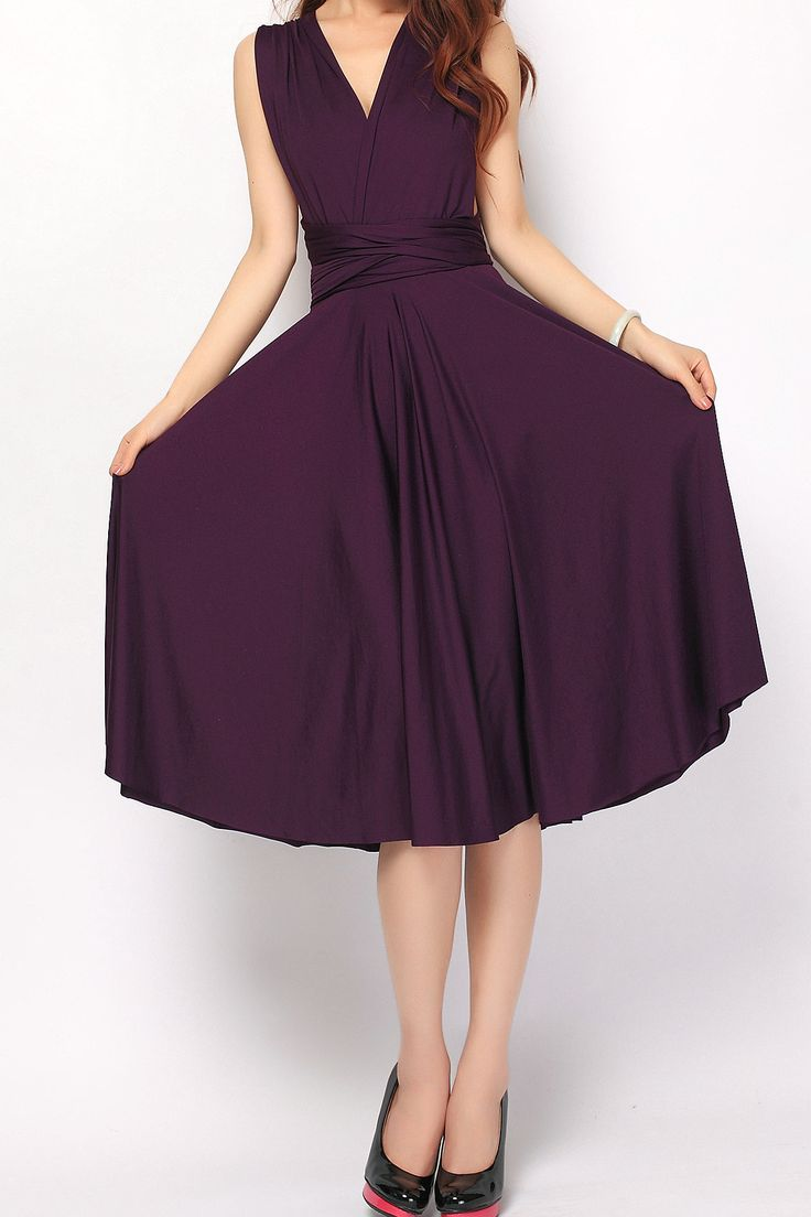 Eggplant Short Convertible Infinity Dress Bridesmaid Dress [st-17] - $49.50 : Infinity Dress | Convertible Dress Bridesmaid Dresses Online, TinnaInfinityDress
