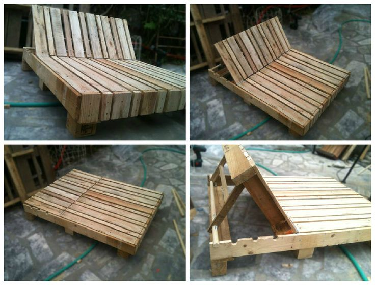 Great double lounge chair made out of pallets. More information: Anthony Heraud…