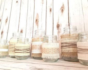 Rustic Wedding Centerpiece Country Chic Decor by TrulyInfinitebyJM