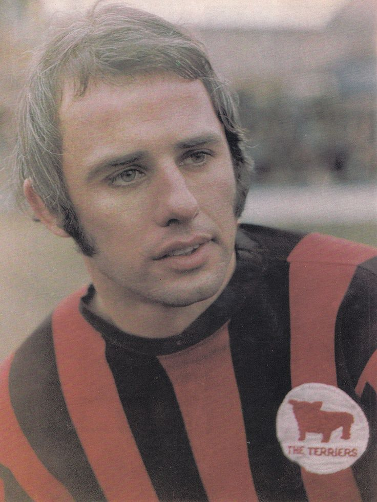 July 1969. Huddersfield Town and Northern Ireland wing half Jimmy Nicholson, pictured at Leeds Road.