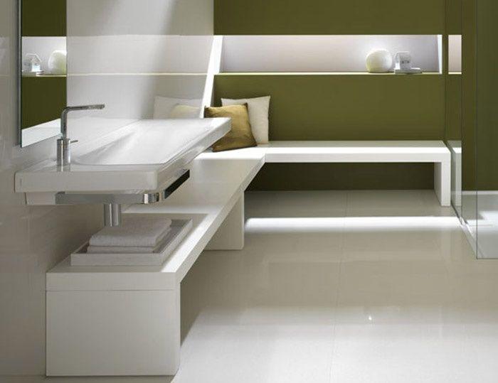 Oltre 25 fantastiche idee su panca da bagno su pinterest - Armadietto angolare bagno ...