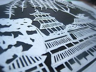 Oriental paper cut