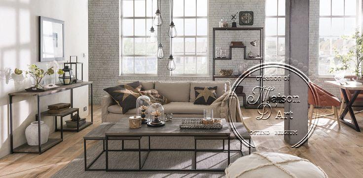 Meer dan 1000 idee n over industri le woonkamers op pinterest woonkamer decoraties - Eigentijdse boekenkast ...