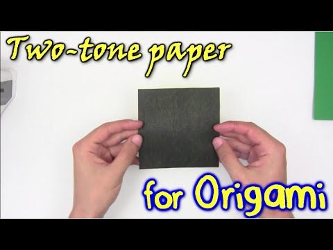 How to make a two-color paper for origami - Yakomoga