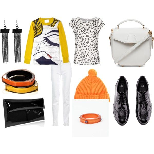"""White pair of skinny jeans"" by agrigento33 on Polyvore"
