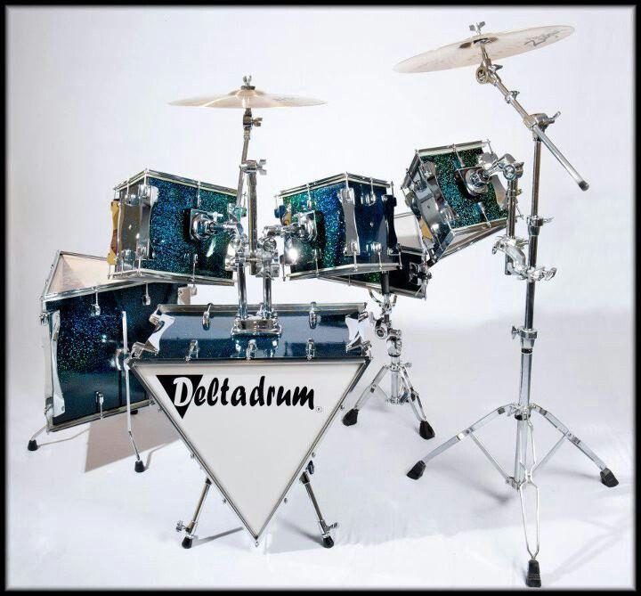 Deltadrums - triangular drum kit.