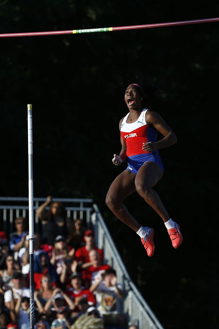 Yarisley Silva (Cuba) won the gold medal in the pole vault  2015 Pan Am Games