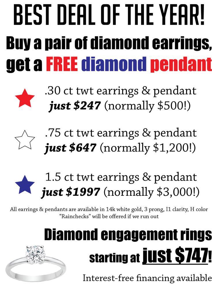 Best deal of the year!!! Buy a pair of diamond earrings