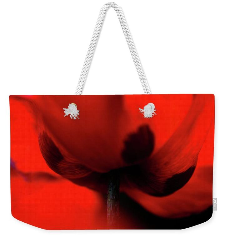 "Passionate Red Weekender Tote Bag (24"" x 16"") by Jenny Rainbow.  The tote bag is machine washable and includes cotton rope handle for easy carrying on your shoulder.  All totes are available for worldwide shipping and include a money-back guarantee."