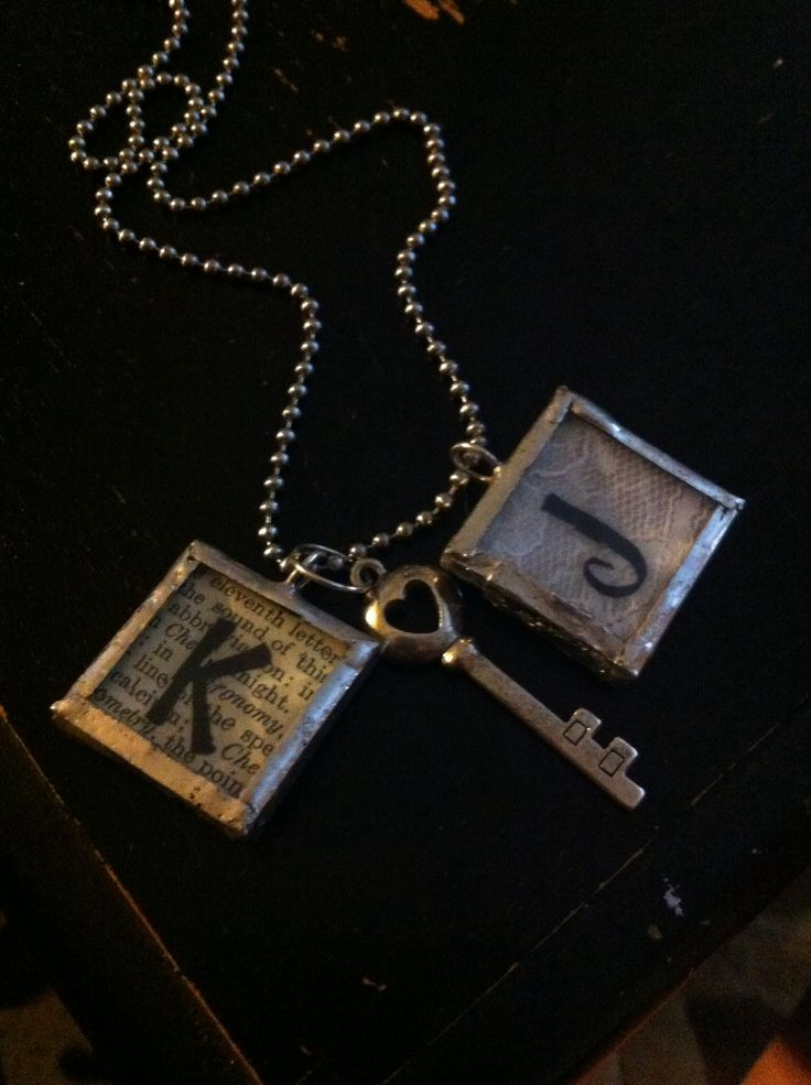 Cute couple necklace idea! The first letter of the couples' first names with a heart key :) love this necklace, I got it from my boyfriend