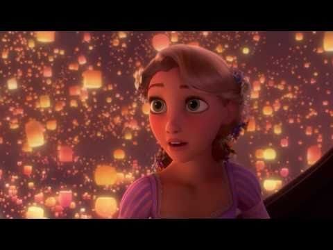 """Day 15: The most romantic moment is the """"I See the Light"""" song from Tangled.  There are so many romantic moments that it was really hard to choose.  However I just love this one!  There is an innocence in Rapunzel and at the same time she's growing up and becoming her own person.  Flynn is the opposite.  He's absorbing Rapunzel's innocence and becoming very sincere, loyal, sweet, thoughtful, and chivalrous."""