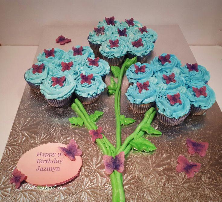 Pull apart  cupcake flowers