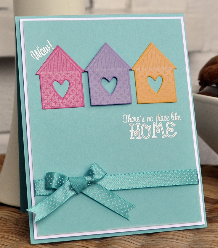 New Home card using PTI Love Lives Here and Love Dwells Here from The Craft's Meow