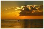 Beautiful Sunset in Isla de Roatan in Honduras.