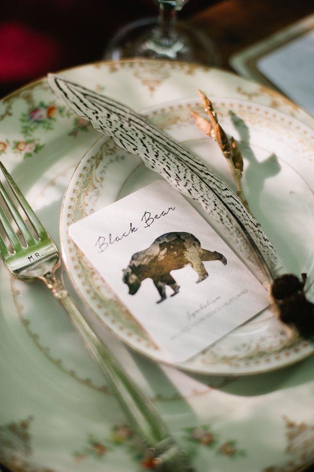 Woodland themed wedding | Meredith McKee Photography | see more on: http://burnettsboards.com/2015/11/marsala-woodland-wedding-inspiration/
