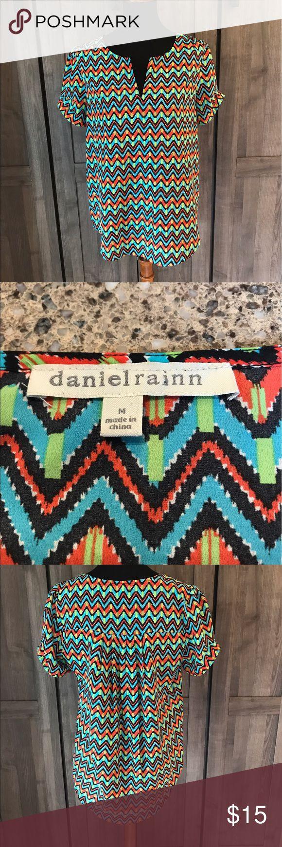 Chevron Blouse Daniel rainn chevron blouse. Size medium. Daniel Rainn Tops