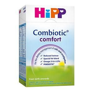 Hipp Comfort (UK) HIPP Combiotic® Comfort formula (UK) is specifically formulated for infants suffering from the symptoms associated with colic or constipation. With reduced lactose content, hydrolyzed protein, and probiotic fibers to support gut health, your little one will be able to digest this formula easier than standard infant milks. #breastmilk #babycare #babyfood #infant #babyformula #formula #hipp #glutenfree