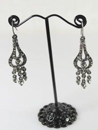 Vintage tear drop diamante crystal earrings.  Available to buy at www.ruralmagpie.co.uk