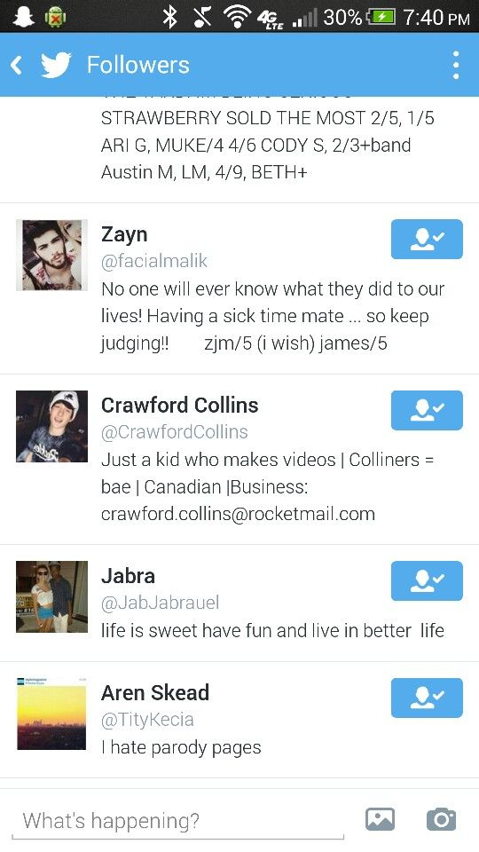 When Crawford followed me on Twitter!