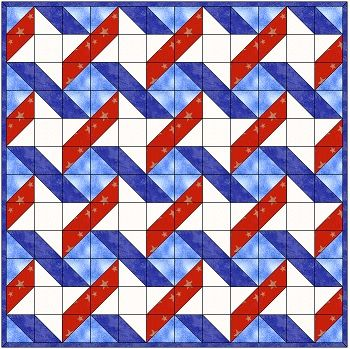 Could be used in Quilt of Valor, or patriotic pattern