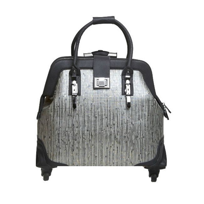 Hang Accessories Urban Chic Grey/ Gold Rolling 15-inch Laptop Case | Overstock.com Shopping - The Best Deals on Rolling Laptop Cases
