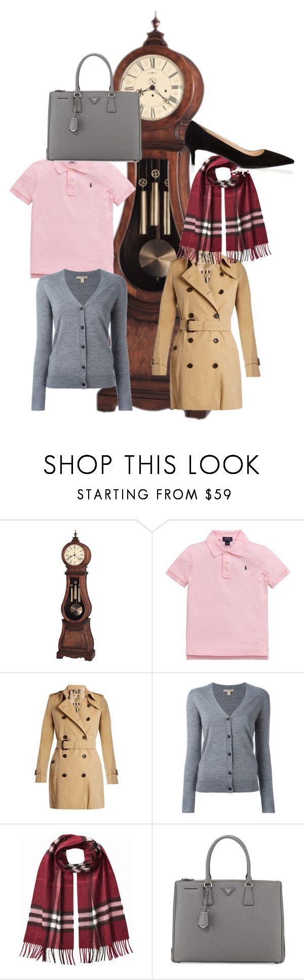 """""""Timeless"""" by mpmongillo on Polyvore featuring Howard Miller, Ralph Lauren, Burberry and Prada"""