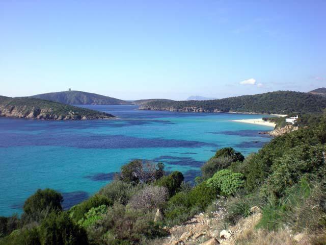 Prachtige baai van Tuerredda in zuid Sardinie