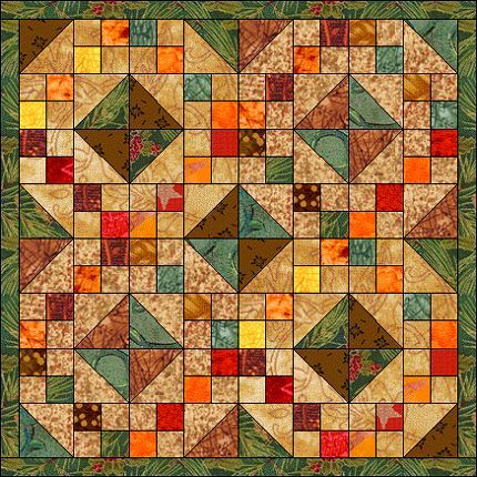 Harvest Wreath - very pretty fall quilt