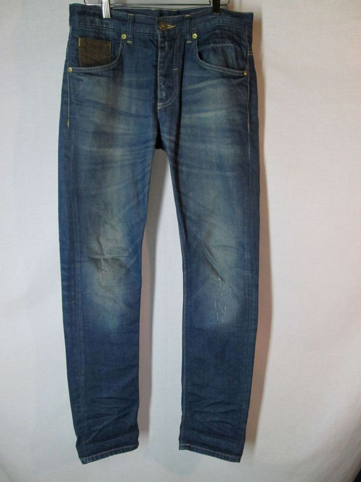 """ZARA MAN 30 x 33"""" inseam JEANS Z DNM Racer style button fly slim leg distressed   Clothing, Shoes & Accessories, Men's Clothing, Jeans   eBay!"""