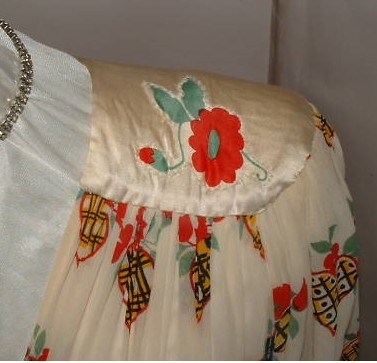 Ossie Clark Celia Birtwell dress shoulder detail