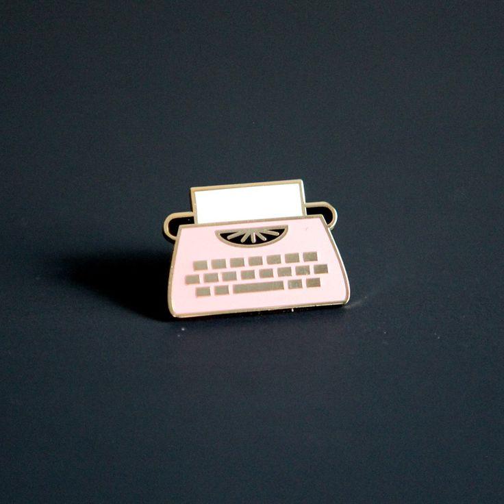 Enamel Typewriter Pin