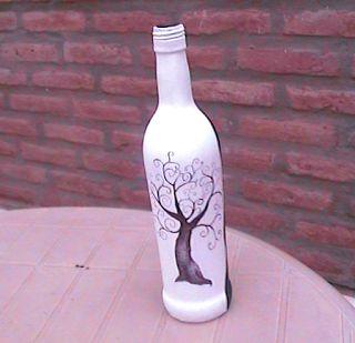El arte del desquite: Botella pintada 2