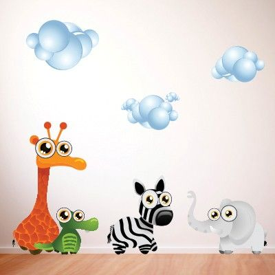101 fantastiche immagini su stickers murali bambini su - Adesivi per muro cameretta ...