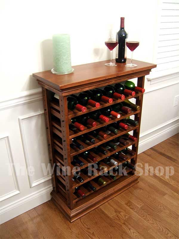 36 Bottle Maple Wine Rack With Top