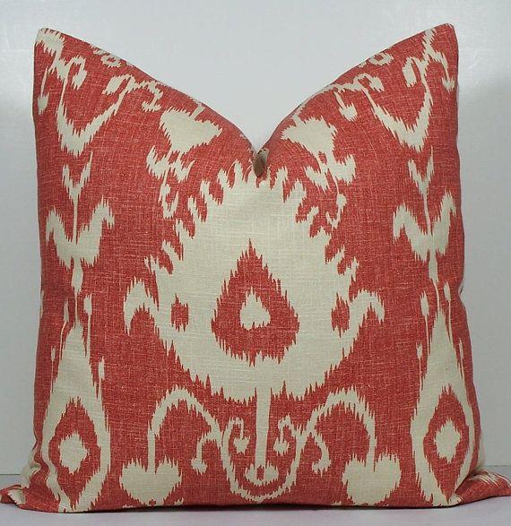 KRAVET -EURO SHAM- Decorative pillow cover - 26 X 26 or 24 x 24- ikat?