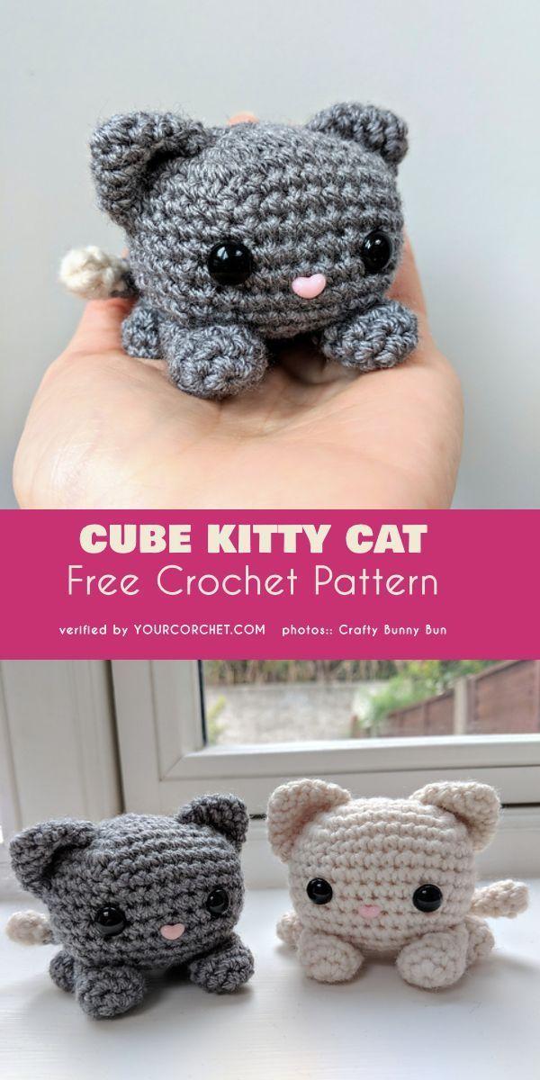 Würfel Kitty Katze Muster Haken Amigurumi Free | DIY-Projekte ...