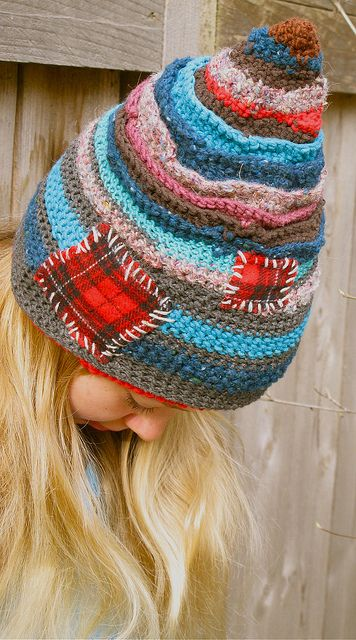 Patches on crochet.. just not on a hat, for me.